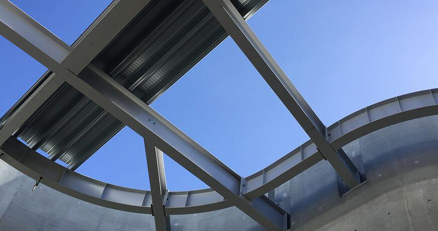 Rejsegilde, stålkonstruktion